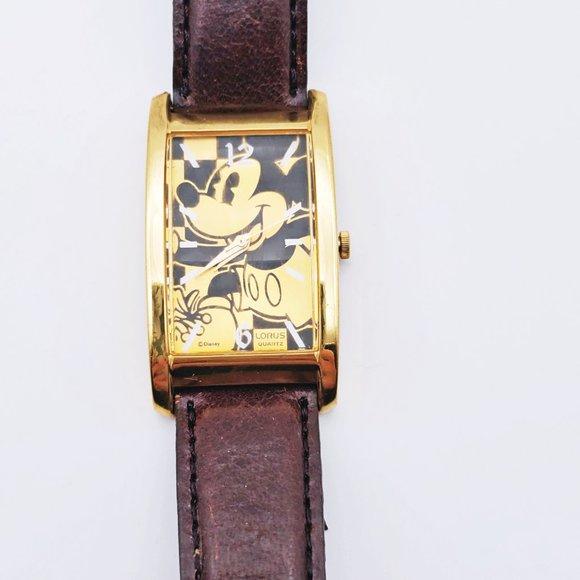 DIsney X Lorus Mickey Orange Watch
